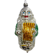 SALE Vintage Glass Figural Clown Ornament Made in West Germany