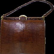 Vintage Brown Lizard Skin Purse by Bellestone