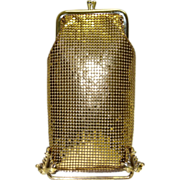 SOLD Vintage Whiting and Davis Gold Tone Metal Mesh Cigarette or Eyeglass Case