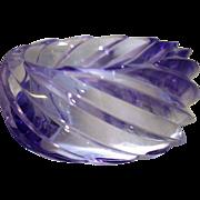 SALE Vintage HUGE Spiral Transparent Lavender Lucite Bangle Bracelet Made in Western Germany