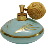 SALE Vintage 1940's DeVilbiss Hand Blown Glass Perfume Bottle
