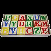 SALE Vintage Halsam Large Alphabet Blocks Unused in Original Box