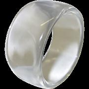 SALE Vintage 1960's Clear Lucite Bangle Bracelet
