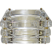SALE Vintage Runway Stacked Crystal Clear Square Lucite Bangle Bracelet