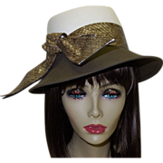 SALE Vintage Hat by Designer Frank Olive