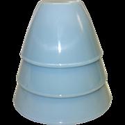 SALE Fire King Turquoise Blue Splash Proof Bowl Set