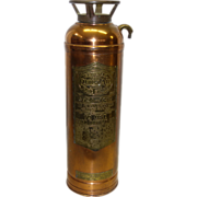SALE Vintage Copper and Brass General Quick Aid Fire Guard Fire Extinguisher Model SA-305