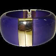 Vintage Purple Moonglow Hinge Bracelet