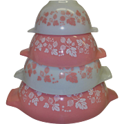 SOLD Vintage Pyrex Cinderella Bowls in the Gooseberry Pattern