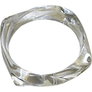 Vintage Napier Clear Lucite Bangle Bracelet
