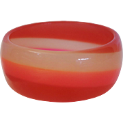 Vintage Glow-in-the-Dark Resin Bangle Bracelet