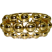 SALE Vintage Kenneth Jay Lane Gold Tone Metal Hinged Cuff Bracelet