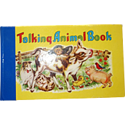 Vintage 1950's Talking Animal Squeaky Book