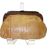 Brown Genuine Leather Clutch Made in Hong Kong