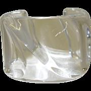 Vintage Sculptural Clear Lucite Cuff Bracelet by Estee Lauder