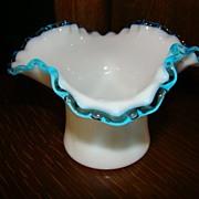 Rare Aqua Crest Square #1923 Vase ~ Circa 40s