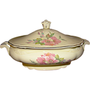 "Homer Laughlin Covered Casserole ~ Virginia Rose ""Wild Rose"""