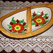 1930s Japan Lustreware Handled Dish