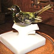 Westmoreland Glass Bird on Branch
