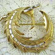 SALE PELL Stunning Rhinestone Baguette Brooch ~ Back Street Collection