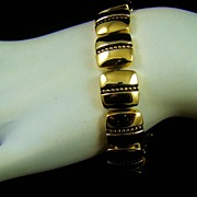 SALE Napier Polished Gold Tone Bracelet