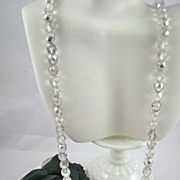 SALE Stunning Aurora Borealis Crystal Necklace by GSilver