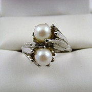 SALE Vogue Double Signed Imitation Pearl Ring