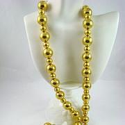 SALE Anne Klein Bold Gold Tone Bead Necklace