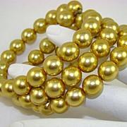 SALE Kenneth J Lane Gold Tone Glass Bead Wrap Bracelet