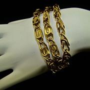 SALE Gold Tone Triple Strand Link Bracelet