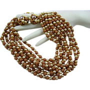 SALE Stunning 50s Mauve Sugar Bead and Imitation Pearl Demi Parure