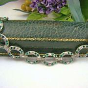 SALE Art Deco Pot Metal and Paste Bracelet