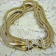 SALE Multi-Strand Gold Tone Chain Bracelet