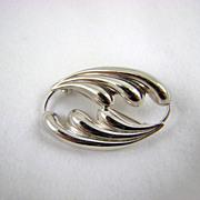 SALE Beau Sterling Art Nouveau Style Brooch