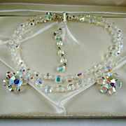 SALE Spectacular ROCK CRYSTAL Evening Northern Lights Demi Parure