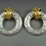 SALE Erwin Pearl Dynamic Diva Hoop Earrings