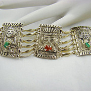 SALE 900 Silver South American Tribal Bracelet