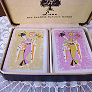 Rare Lane Geisha Playing Cards ~ Double Deck~ Vintage Estate Find