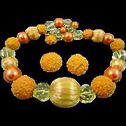 SALE Rare Vogue Apricot and Yellow Demi Parure
