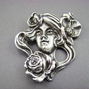 SALE Art Nouveau Style Brooch