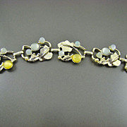 SALE Forget-Me-Not Blue and Daffodil Yellow Moonglow Bracelet