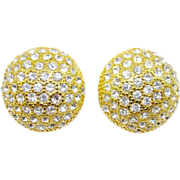 SALE Blanca Swarovski Crystal Button Earrings