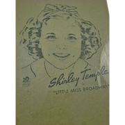 1938 Movie Promo Shirley Temple Iron-on Transfer