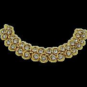 SALE Crown Trifari Double Row Crystal Evening Bracelet