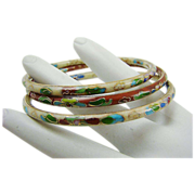 SALE Set of Three Cloisonne Bangle Bracelets