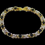 SALE Sapphire and Diamond Accent Bracelet