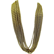 SALE Kramer of New York 15-Strand Snail Chain Necklace