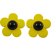 SALE Pretty Yellow Black Eyed Susan Earrings ~ Nod to Beetle Fans