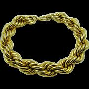 SALE Les Bernard Heavy Gold Tone Link Runway Necklace Haute Couture
