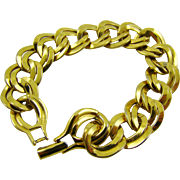 SALE Monet Double Link Gold Tone Bracelet